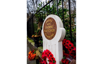 Damage to WPC Yvonne Fletcher's Memorial