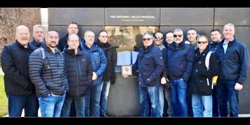 Senior American Police Officers visit UK's The National Police Memorial