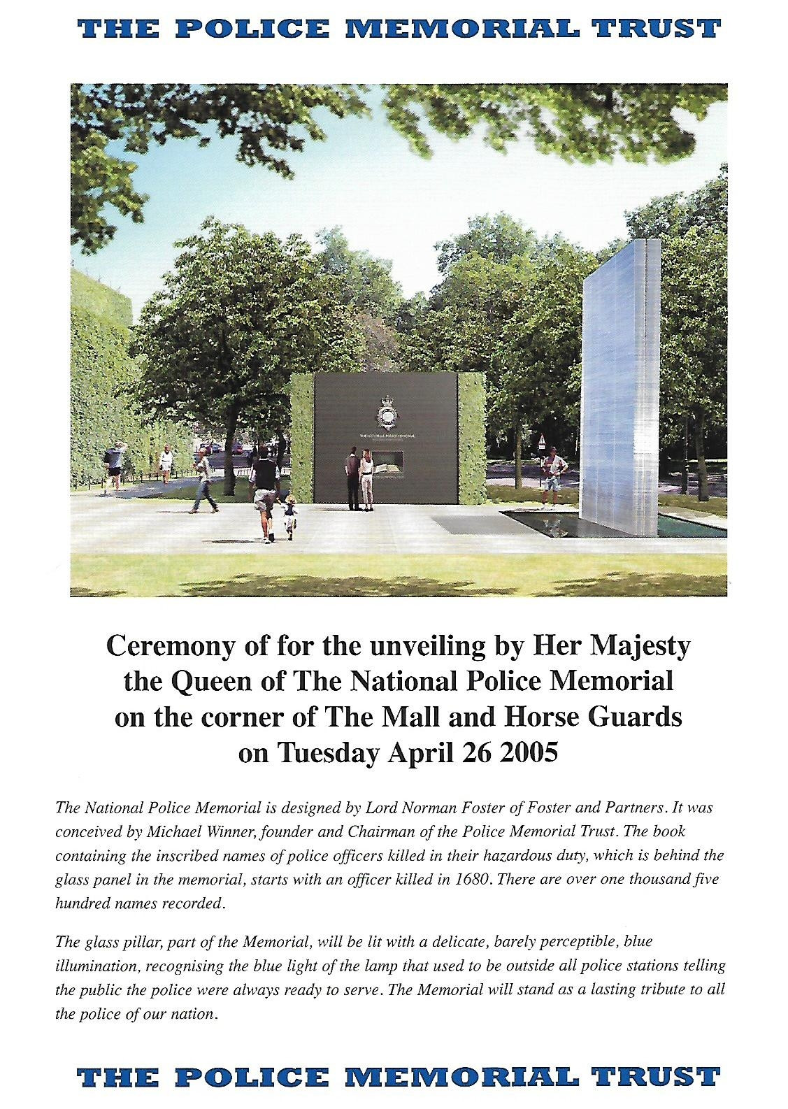 The Queen Unveiling the Memorial Programme 1