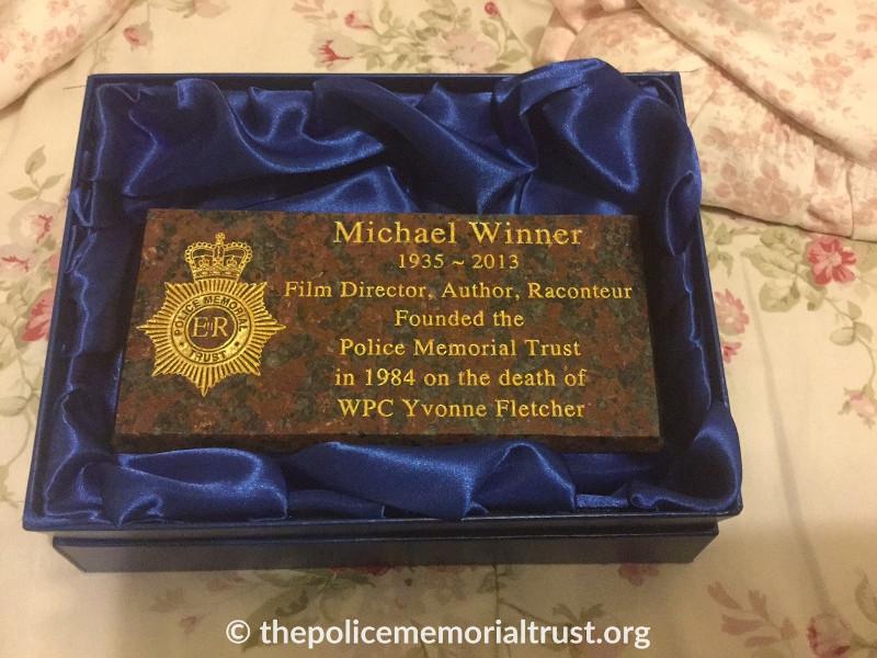 michael winner memorial plaque