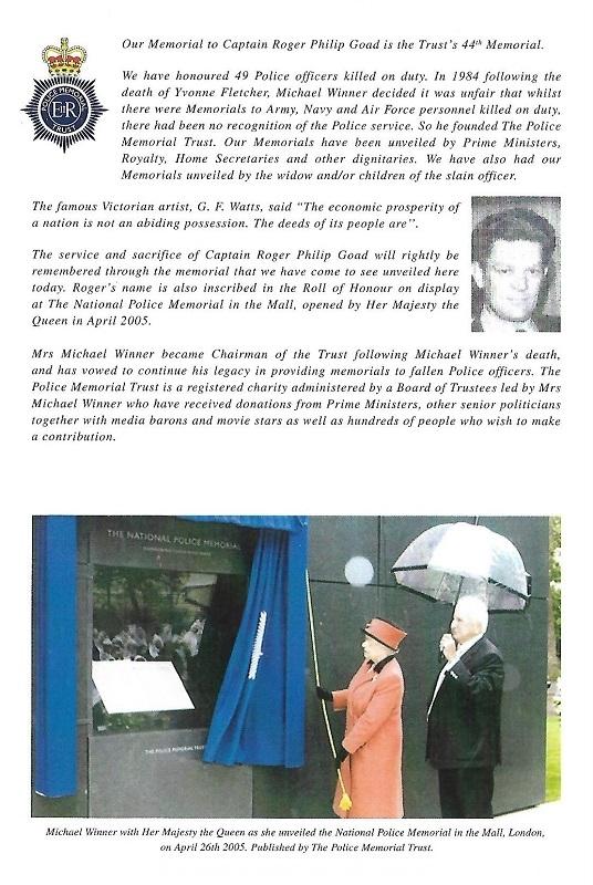 Captain Roger Goad Memorial Programme 2