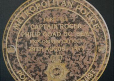 Captain Roger Goad Memorial Unveiling 1
