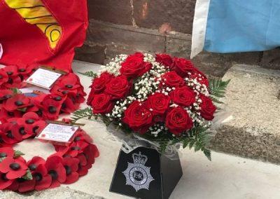 Captain Roger Philip Goad GC. BEM War Memorial Flowers