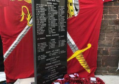 Captain Roger Philip Goad GC. BEM War Memorial Plaque