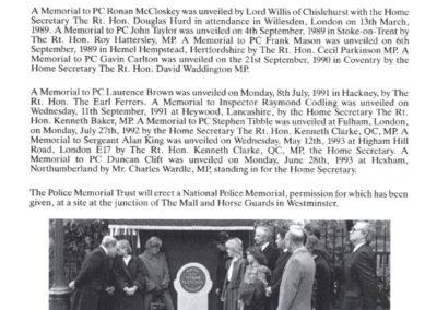 DC Jim Morrison QGM Memorial Programme 4
