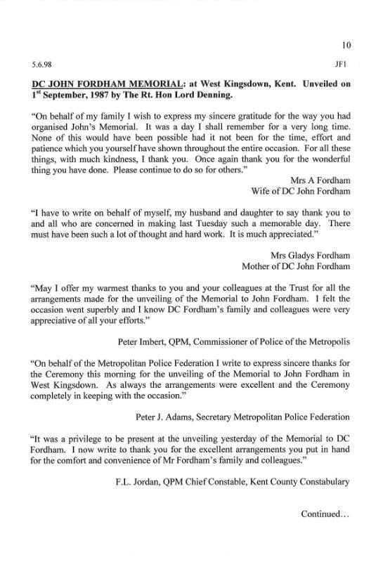 DC John Fordham Letter 1