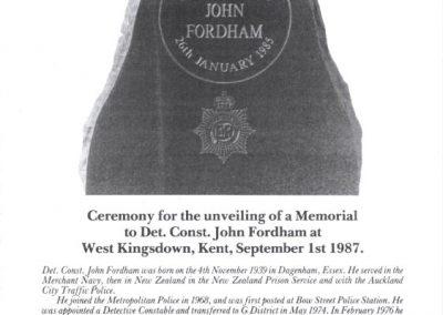 DC John Fordham Memorial Programme 1