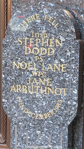 Dodd Lane Arbuthnot Memorial Plaque 2