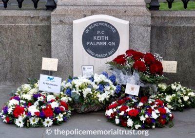 Flower Wreaths Keith Palmer GM Memorial Stone