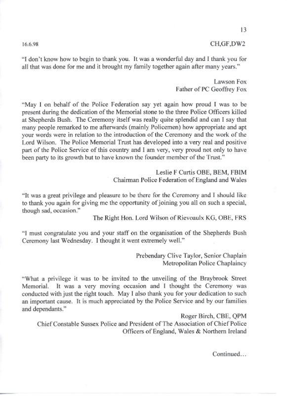Fox Head Wombwell Letter 2