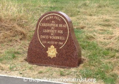 Fox Head Wombwell Memorial Stone 2