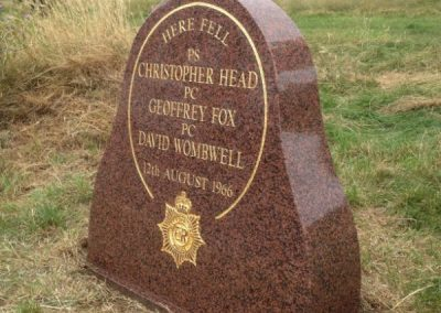 Fox Head Wombwell Memorial Stone 3