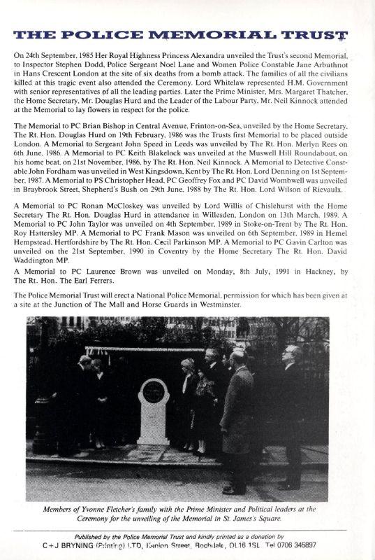 Inspector Raymond Codling Memorial Programme 4