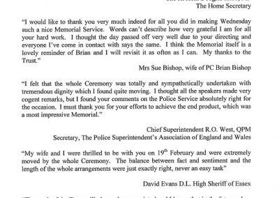 PC Brian Bishop Letter 1