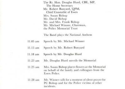 PC Brian Bishop Memorial Programme 2