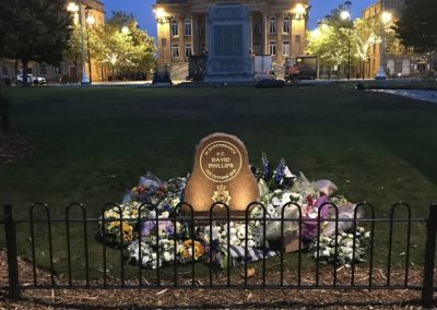 PC David Phillips Final Memorial Positioning and Lighting