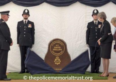 PC David Phillips Memorial Unveiling