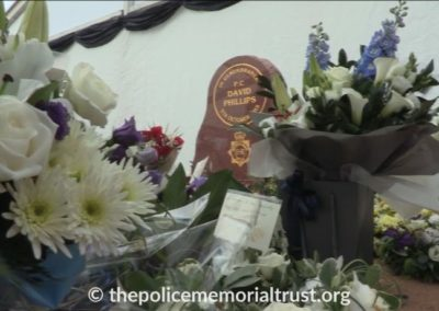 PC David Phillips Memorial With Flowers 2