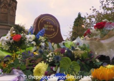 PC David Phillips Memorial With Flowers 3