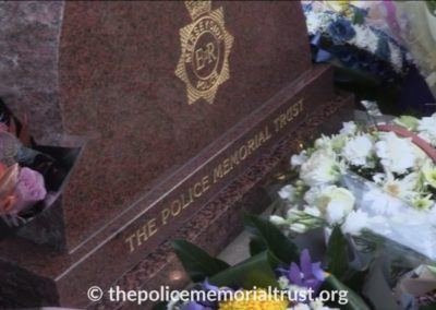 PC David Phillips Memorial With Flowers 4