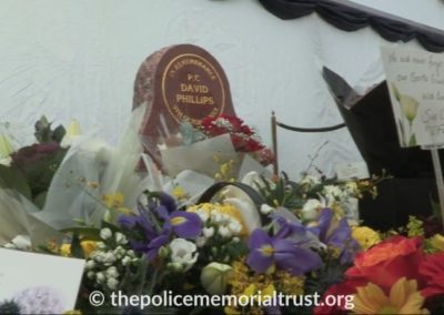 PC David Phillips Memorial With Flowers
