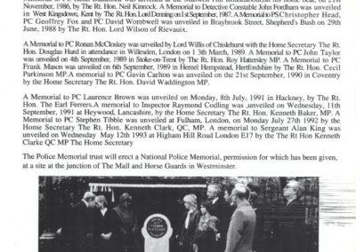 PC Duncan Clift Memorial Programme 4