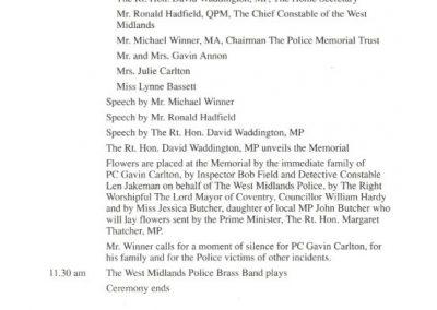 PC Gavin Carlton Memorial Programme 4