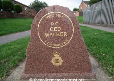 PC Ged Walker Memorial 2