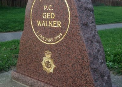 PC Ged Walker Memorial 3
