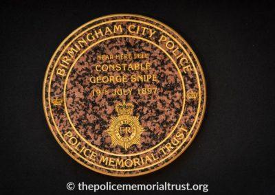 PC George Snipe Memorial Unveiling Ceremony 1