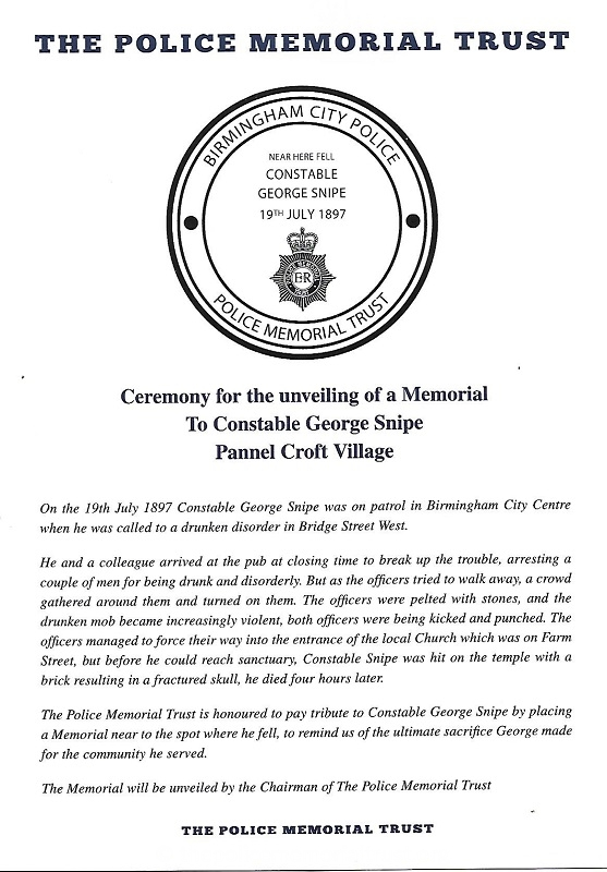 PC George Snipe Programme 1
