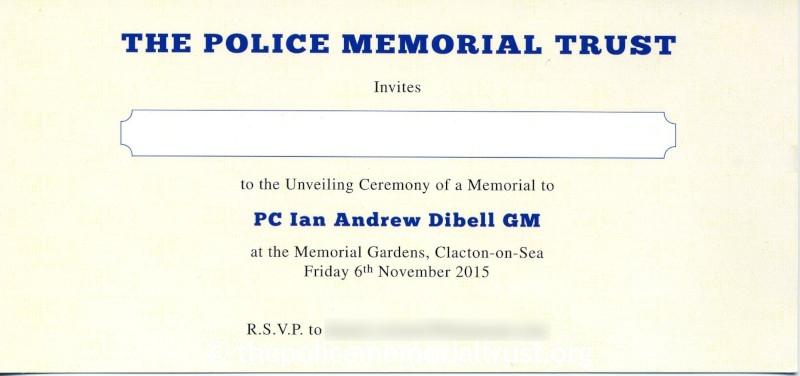 PC Ian Dibell GM Memorial Invite