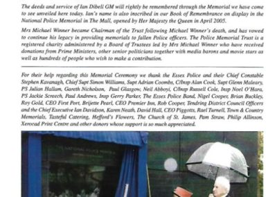 PC Ian Dibell GM Memorial Programme 2
