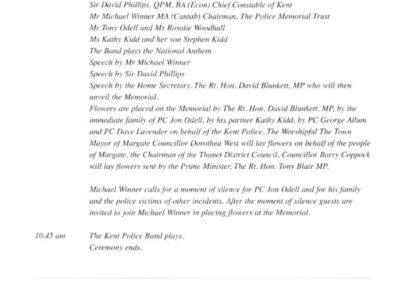 PC Jon Odell Memorial Programme 2
