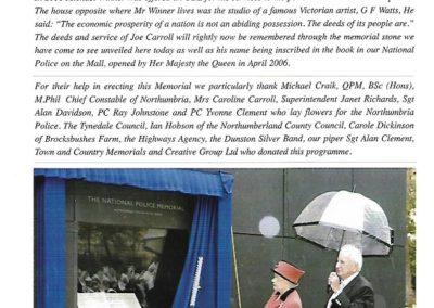 PC Joseph Carroll Memorial Programme 2
