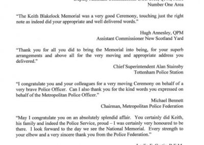 PC Keith Blakelock Letter 2