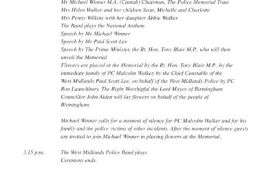 PC Malcolm Walker Memorial Programme 2