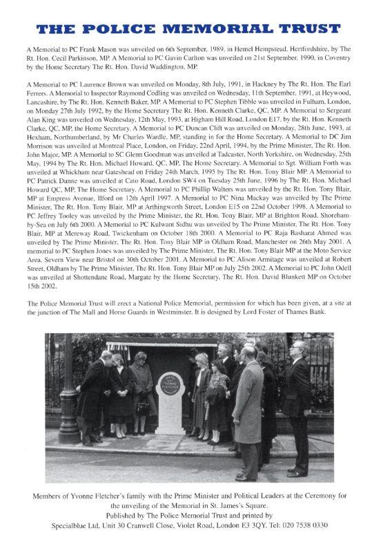 PC Malcolm Walker Memorial Programme 4