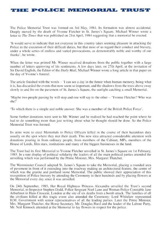 PC Patrick Dunne Memorial Programme 3