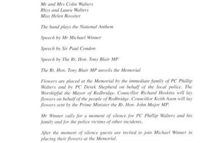 PC Phillip Walters Memorial Programme 2