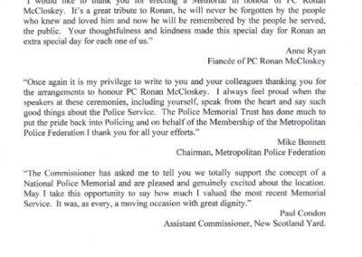 PC Ronan McCloskey Letter 2