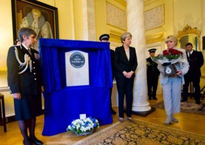 PM Teresa May and Geraldine Winner Keith Palmer GM Memorial 2