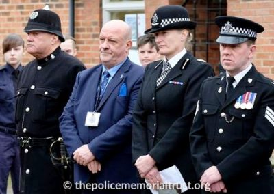 Police Officers and Trustees attending the Ceremony