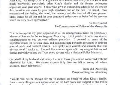 Sergeant Alan King Letter 1