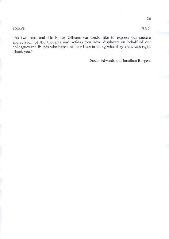 Sergeant Alan King Letter 2