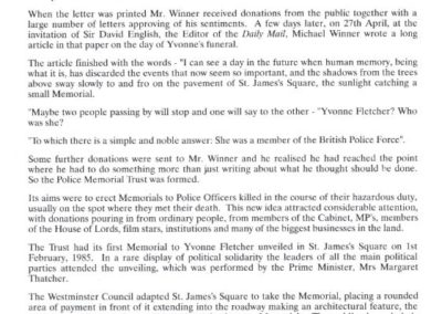 Sergeant William Forth Memorial Programme 3