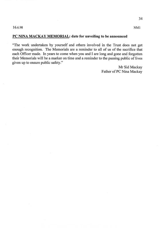 WPC Nina Mackay Letter