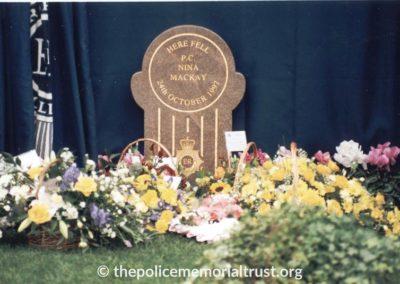 WPC Nina Mackay Memorial 1