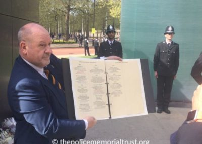 steve lloyd with the police roll of honour