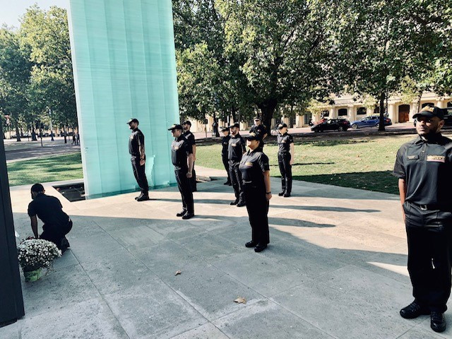 police officers attending the national police memorial